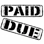 Paid Due Stamp