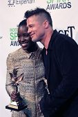 LOS ANGELES - MAR 1:  Lupita Nyong'o, Brad Pitt at the Film Independent Spirit Awards at Tent on the