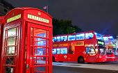 LONDON, UK - SEP 27: London Street view with iconic telephone box on September 27, 2013 in London, U