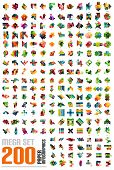 foto of origami  - Mega set of infographic templates made of pieces of paper  - JPG
