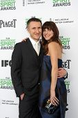 LOS ANGELES - MAR 1:  Scott Campbell, Lake Bell at the Film Independent Spirit Awards at Tent on the Beach on March 1, 2014 in Santa Monica, CA