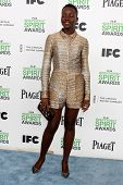 LOS ANGELES - MAR 1:  Lupita Nyong'o at the Film Independent Spirit Awards at Tent on the Beach on March 1, 2014 in Santa Monica, CA