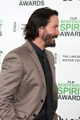 LOS ANGELES - MAR 1:  Keanu Reeves at the Film Independent Spirit Awards at Tent on the Beach on Mar