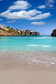 foto of porter  - Cala en Porter beautiful beach in menorca at Balearic islands of spain - JPG