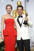 LOS ANGELES - MAR 2:  Jennifer Lawrence, Matthew McConaughey at the 86th Academy Awards at Dolby The