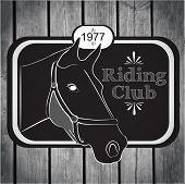 Retro Label Riding Club Vector