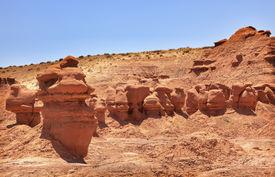picture of goblin  - Mushroom Shaped Hoodoos Goblin Valley State Park Rock Canyon San Rafael Desert Utah USA Southwest - JPG