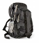 Black Tourist Backpack Isolated poster