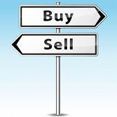 Buy And Sell Direction Concept