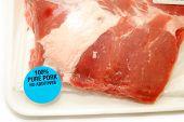 Close-up Of Bone-in Pork Ribs In A Package