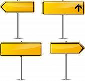 Yellow Signpost Set