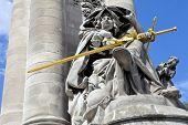 Statue On Pont Alexandre Iii