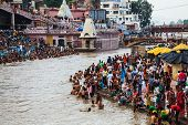 Bathing In Ganges River