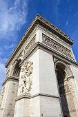 stock photo of charles de gaulle  - The impressive Arc de Triomphe in Paris France - JPG