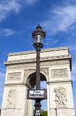 Place Charles De Gaulle And The Arc De Triomphe In Paris
