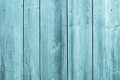 Surface Of Old Wooden Boards Turquoise Color