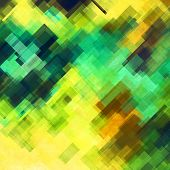 art abstract geometric diagonal pattern background in green, yellow and brown colors