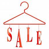 Sale hanger.