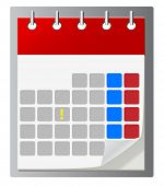 Calendar vector icon ,eps 10