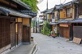 Beautiful Old Houses In Ninen-zaka Street, Kyoto, Japan.