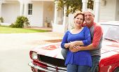 Senior Couple With Restored Classic Car