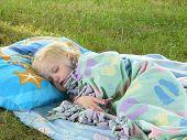 Child Sleeping Outside