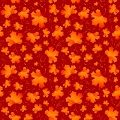 Maple leaves seamless pattern.