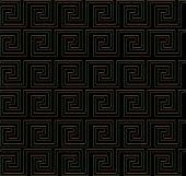 Repeating Maze Like Design Golden Edge