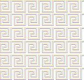 Repeating Maze Like Design Rainbow