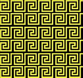 Repeating Maze Like Design Yellow