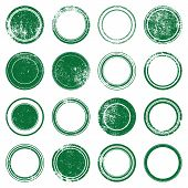 Green  Ronded Grunge Stamp