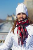 Portrait Of A Beautiful Woman At The Ottawa Rideau Canal