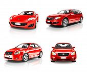 3D Collection of Luxury Red Sports Car