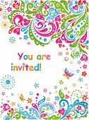 Party invitation. Raster copy