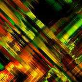 art abstract colorful diagonal geometric pattern; acrylic background in red, green, gold and black i