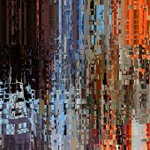 art abstract pixel geometric pattern background in brown. orange and blue colors