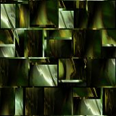 art abstract colorful geometric seamless pattern; background in gold, black, brown and green colors