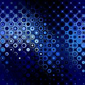 art abstract point geometric seamless pattern background in blue and black colors