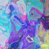 art abstract colorful chaotic waves pattern; background in blue and violet colors