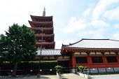 image of shogun  - Asakusa area where the old temple is located Tokyo Japan  - JPG