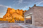 image of mount rushmore national memorial  - Sunrise at Mount Rushmore National Monument in the Black Hills of South Dakota USA - JPG