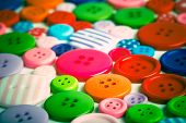 lots of colorful buttons