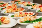 Prepared lobster on plate