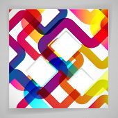 Abstract background with rounded design elements.