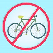 Colorful Symbol Prohibiting Bicycles