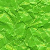 Green Crushed Paper, Vector Illustration