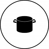stockpot without lid symbol