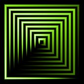 green neon square  background