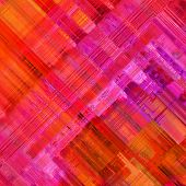 art abstract colorful diagonal geometric pattern; acrylic background in red, orange, pink and fuchsia colors