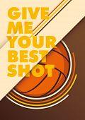 Modern volleyball poster. Vector illustration.